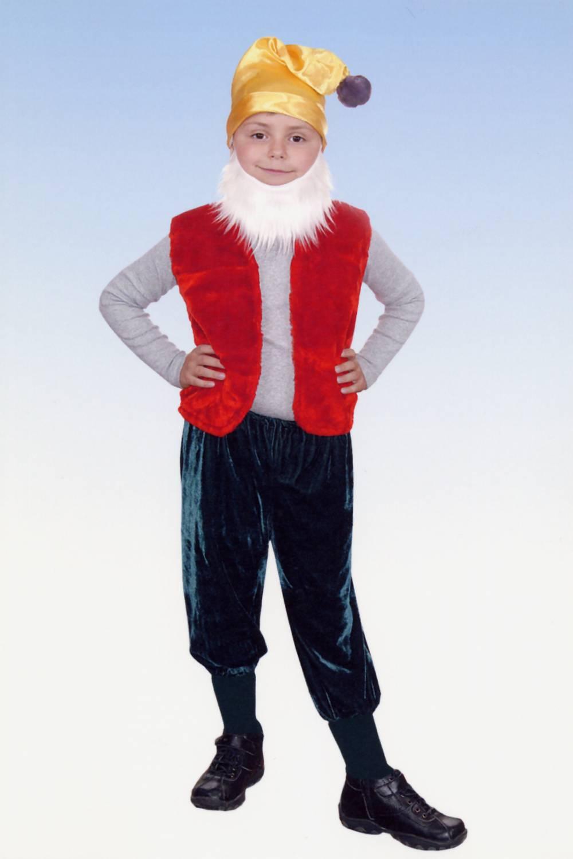 Детский костюм гнома для мальчика своими руками 59